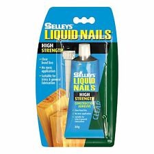 Selleys LIQUID NAILS HIGH STRENGTH Construction Adhesive CLEAR- 80g or 250g