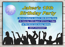 Birthday Invitations, Party Invites, 18th 21st 30th 40th 50th 60th any age Peg 7