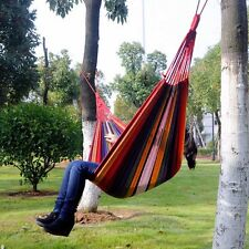 Outdoor Hanging Garden Beach Camping Canvas Fabric Hammock Bed Bag Portable New
