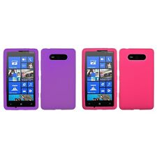 For Nokia Lumia 820 Silicone Skin Rubber Soft Case Phone Cover