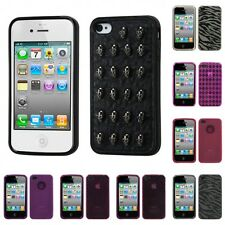 For Apple iPhone 4/4S TPU Rubber Skin Flexible Case Phone Cover