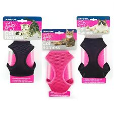 Ancol Cat Kitten Pet Soft Mesh Harness With Walking Lead - Small, Medium, Large