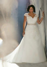 New Plus Size White/Ivory Bridal Gown Lace Wedding Dress 14 16 18 20 22 24 26++