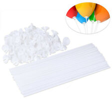 100Pcs White Plastic Balloon Cup&Stick Holder Wedding Home Xmas Party Decoration
