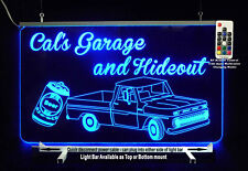 Personalized LED Man Cave Sign- Garage Sign, Bar sign, Truck, Gift for Dad