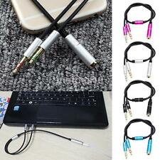 3.5mm Stereo Audio Cable 2 Male To Female Headset Mic Y Splitter Cable Adapter m