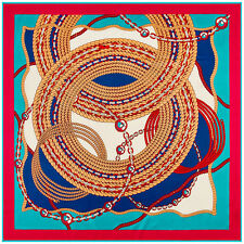 """Women Red Euro Chain Great Circle Printed Square Shawl Scarf 39""""*39"""""""
