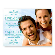 Wedding Announcement Set of 10 Photo Flourish Save the Date Cards AA4517