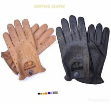 TOP QUALITY REAL SOFT LEATHER MENS FASHION DRIVING GLOVES LAMB SKIN SHEEP
