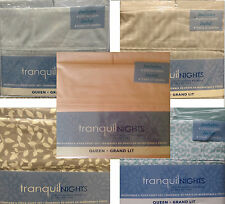 New! Tranquil Nights Luxury Weight Bedding Microfiber 6-Pcs Sheet Set - Queen