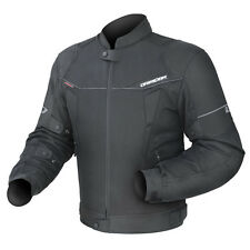 Dririder Climate Control 3 Motorcycle Sports Vented Mens Jacket Solid Blk XS-8XL