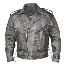 Xelement Urban Armor Men's 'Vintage' Grey Leather Motorcycle Jacket