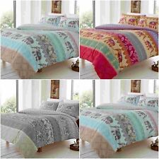 MODERN ELLY STYLE ELEPHANT DUVET QUILT COVER SET WITH PILLOW CASES BEDDING SETS