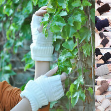 Knitted Fingerless Winter Gloves Men Women Wrist Arm Hand Warmer Mittens Fashion