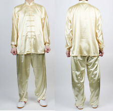 Chinese Kung Fu Wushu TaiChi Uniform Yellow China Tai chi Chuan KungFu uniforms