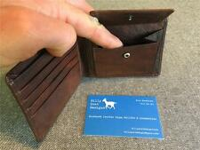*NEW* Billy Goat Designs Leather Wallet Coin pocket W2P Bifold men card cash