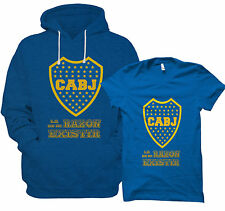 BOCA JUNIORS HOODIE SWEATSHIRT FOOTBALL T SHIRT ARGENTINA SOCCER HOODY VEE NEW