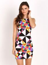 Mara Hoffman Clothing Fractals Color Block Dress Peach