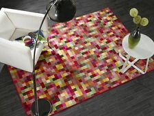 Retro Funky Pixel Checked Multi Coloured Rug 2 Sizes