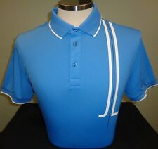 NEW MENS J. LINDEBERG TYR REGULAR FIT Jersey Golf Polo Shirt, BLUE INTENSE, $120