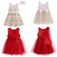 Baby Girls Formal Dress Wedding Flower Girl Princess Party Pageant Kids Dresses