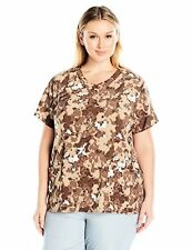 Carhartt Women's Plus SZ Cross-Flex Print Y Neck Scrub Top - Choose SZ/Color