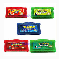 Pokemon Emerald Fire Red Leaf Green Sapphire Pocket Monster GBA Cartridges