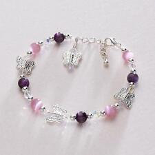 Butterfly Bracelets for Girls, Many Colours, Ideal Jewellery for Bridesmaids.