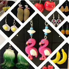 Big Funky kitsch jewellery Fruit Statement earrings Kawaii