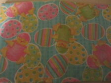 EASTER CHICKS AND EGGS VINYL TABLECLOTH FLANNEL BACK ALL SIZES