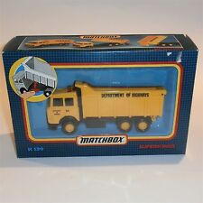 Matchbox Superkings K139 Iveco Cab Chassis Dump Truck mint boxed
