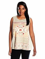 Lucky Brand Women's Plus-SZ Sleeveless Top W/ Embroidery - Choose SZ/Color
