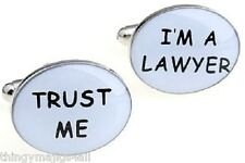 TRUST ME I'M A LAWYER PAIR NEW QUALITY CUFFLINKS SHIRT NOVELTY JOBS PROFESSION