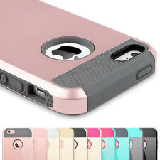 Hybrid Rubber Shockproof Dirt Dust Proof Hard Cover Case Skin For iPhone 5 6S