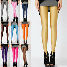 Women's Stretchy Pencil Leggings Pants Candy Slim Trousers Skinny Legging Jeans