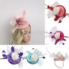 Spring Racing Race Party Flower Feather Fascinator Hat Headband Hairband Clip