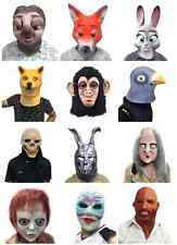 Funny Creepy Halloween Party Costume Theater Prop Optional Animal Head Mask
