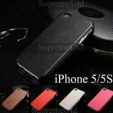 Genuine Leather Ultra Thin Back Case iPhone 5 5S Slim Hard Cover Fashion Holder