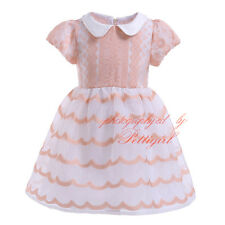 Baby Girls Embroidered Princess Dress Kids Flower Wedding Party Pageant Dresses