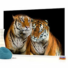 Tigers Jungle Forest PHOTO WALLPAPER WALL MURAL ROOM DECOR 130PP