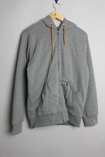 HURLEY ONLY ONE LONG SLEEVE MENS GREY ZIP UP HOODED JACKET JUMPER