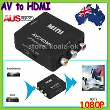 Composite AV CVBS 3RCA to HDMI Video Converter Adapter 1080p Up Scaler new