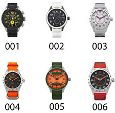 Superdry Mens Analogue Quartz Stainless Steel Leather Silicone Strap Wrist Watch
