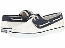 Sperry Top-Sider Women Bahama 2-Eye Boat Shoes Size 8 -10 Canvas White Navy New