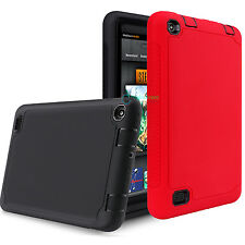 Slim Hybrid Rugged Silicone Hard Case Cover for Amazon Kindle Fire 7 inch /HD 10