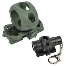 "Tactical 1"" 25.4mm Flashlight Helmet Clamp Adaptor Rail for Fast Helmet Airsoft"