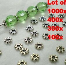 1000pcs/Lots HOT Tibetan Daisy Spacer Metal Beads 4mm Jewelry Making Wholesale
