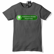 Achievement Unlocked Pooped Today T Shirt Funny Gift Gamer Xbox Gift gaming 536