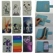 For FLY Gigaset Goclever case Wallet Card LUXURY leather cute Cover +stylus