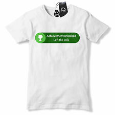 Achievement Unlocked Left the Sofa T Shirt Funny Geek Gamer Xbox Gift gaming 539